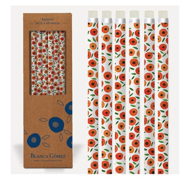 Sada 6 pastelek U Studio Design Apricots