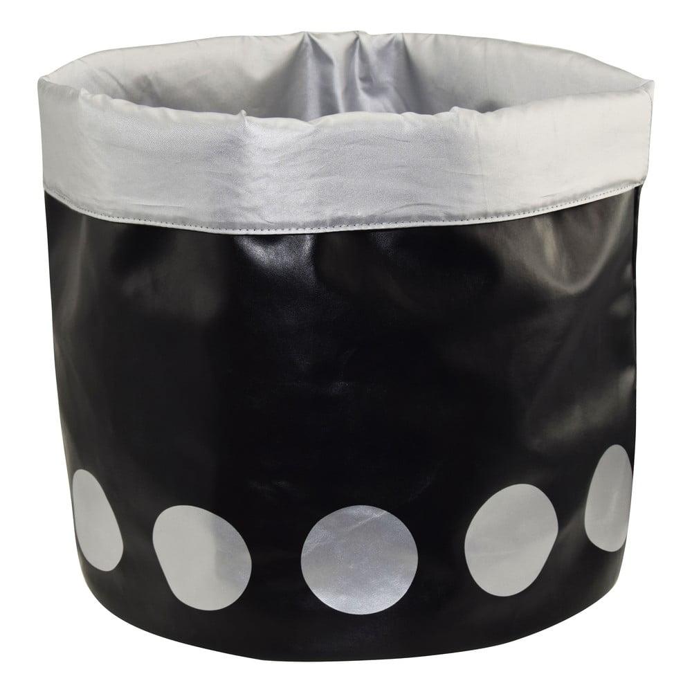 Černý úložný košík Incidence No Limit, výška40 cm