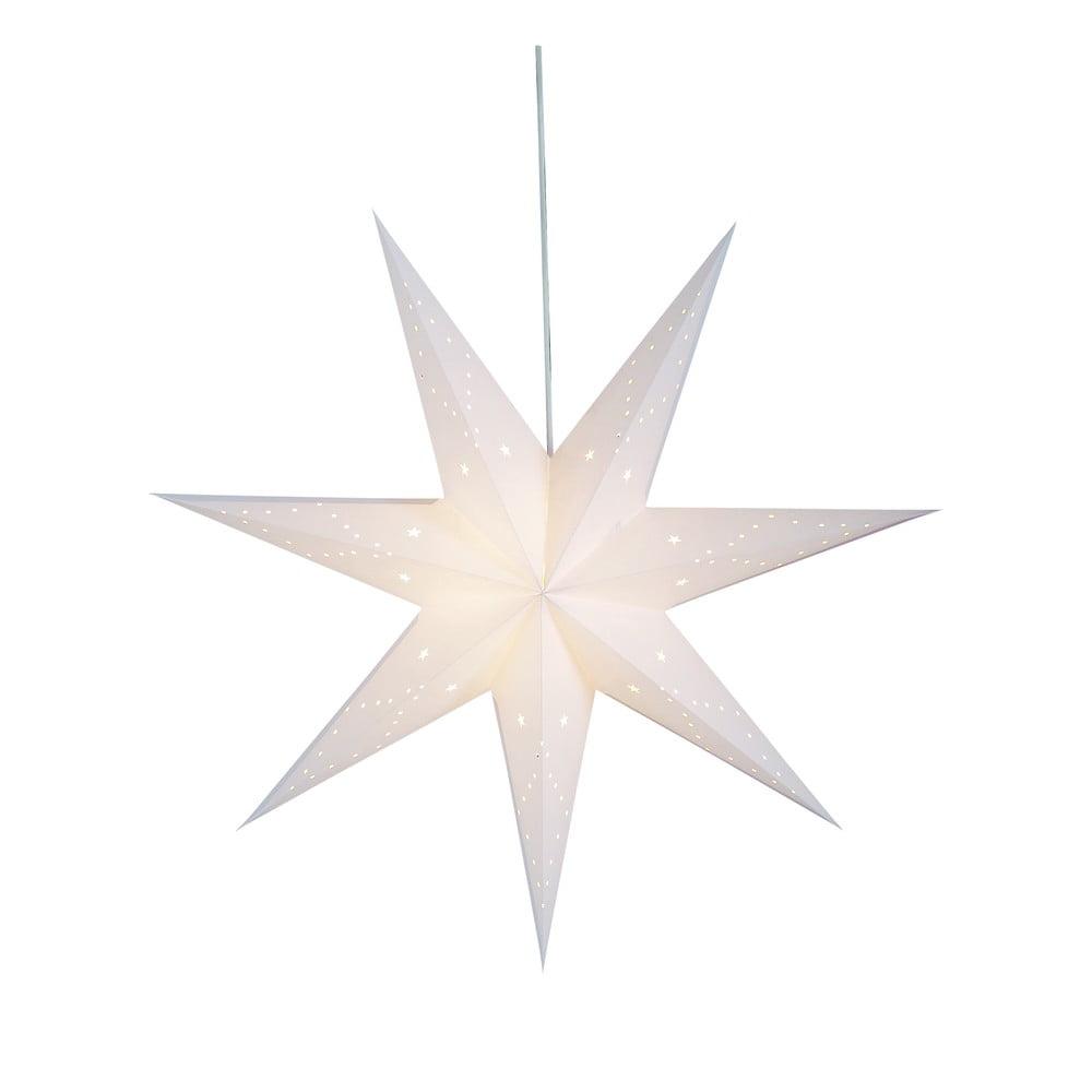 Bílá vánoční závěsná světelná dekorace Markslöjd Saturnus,výška75cm