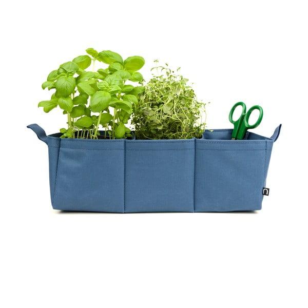 Polyesterový květináč Novoform Herbie, modrý