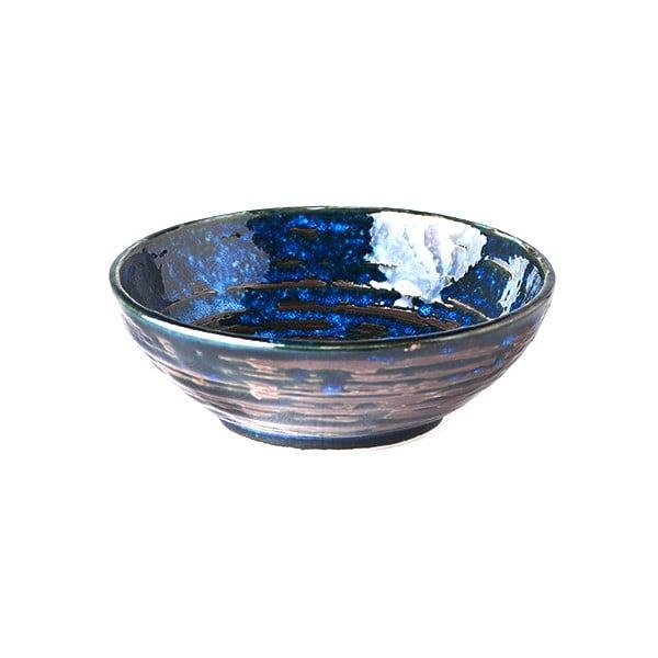 Modrá keramická malá miska MIJ Copper Swirl, ø13 cm