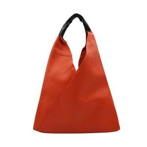 Tmavě oranžová kabelka z pravé kůže Andrea Cardone Karula