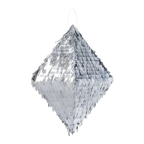 Papírová dekorace Metalic Silver Pinata