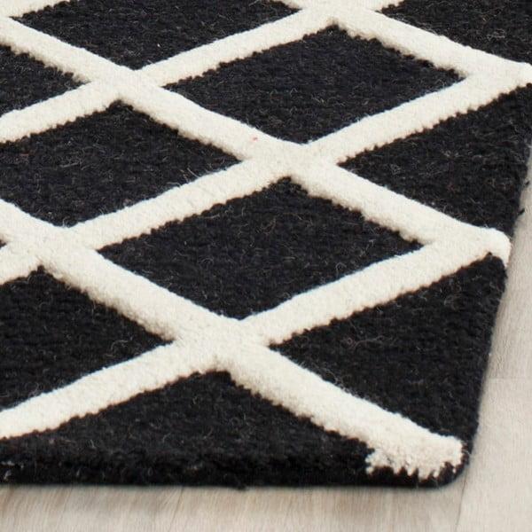 Vlněný koberec Sophie Black, 121x182 cm