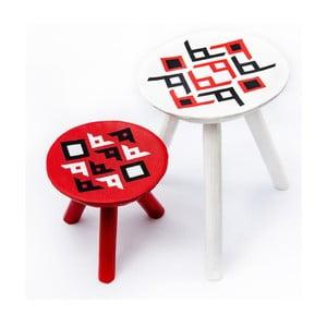 Sada 2 ručně malovaných stoliček Bran