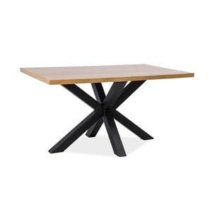Jídelní stůl s černou ocelovou konstrukcí Signal Cross, délka150cm