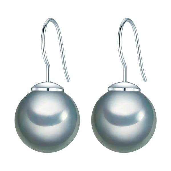 Šedé náušnice s perlou Perldesse Kerne,1,2cm
