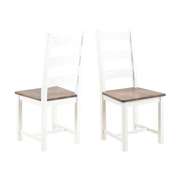 Białe krzesło z drewna kauczukowca Actona Lyon