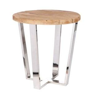 Odkládací stolek J-Line Silvy, Ø49 cm