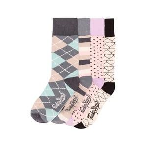Sada 4 párů barevných ponožek Funky Steps Rainy Day, vel. 35-39