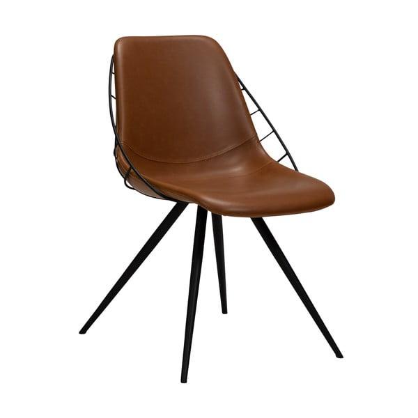 Hnědá jídelní židle v imitaci kůže DAN-FORM Denmark Sway