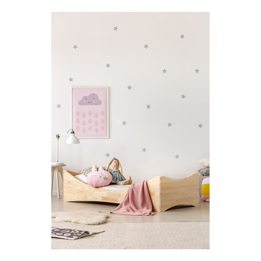 Dětská postel z borovicového dřeva Adeko Mila BOX 3, 60 x 120 cm