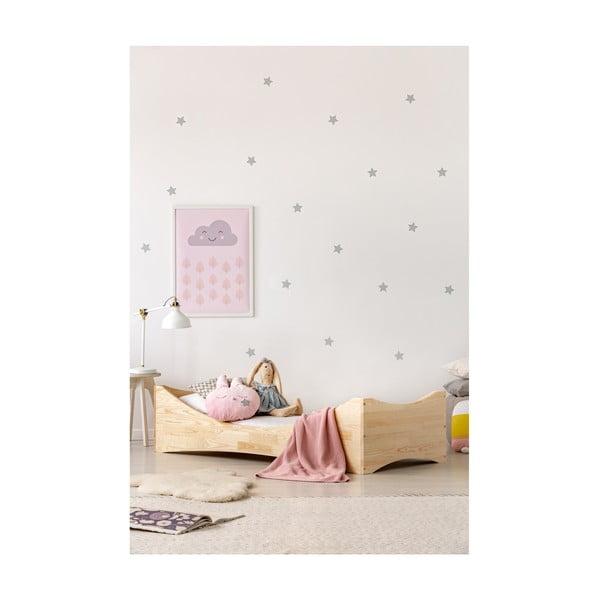 Pat din lemn de pin pentru copii Adeko Mila BOX 3, 90 x 190 cm