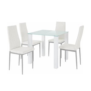Sada stolu a 4 bílých židlí Støraa Nara