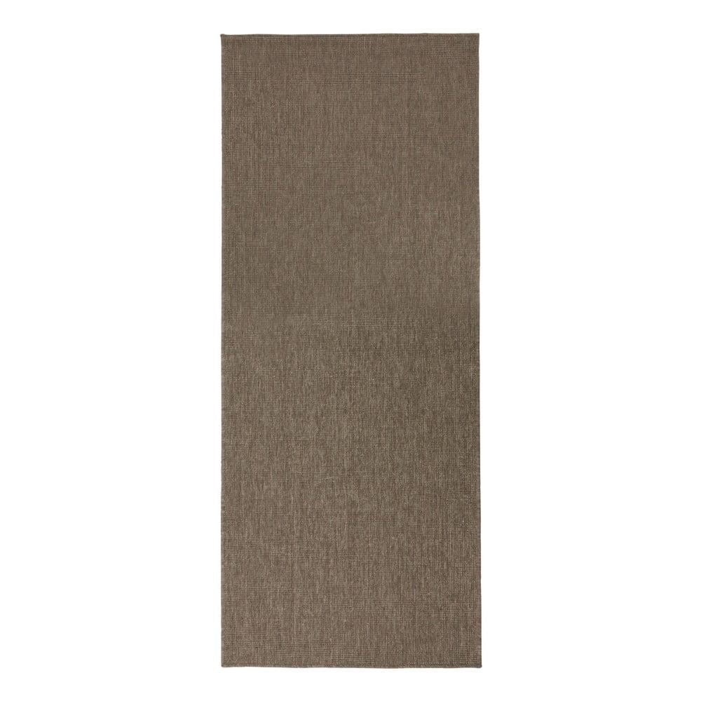 Hnědý oboustranný koberec vhodný i na ven bougari Miami, 80x150 cm