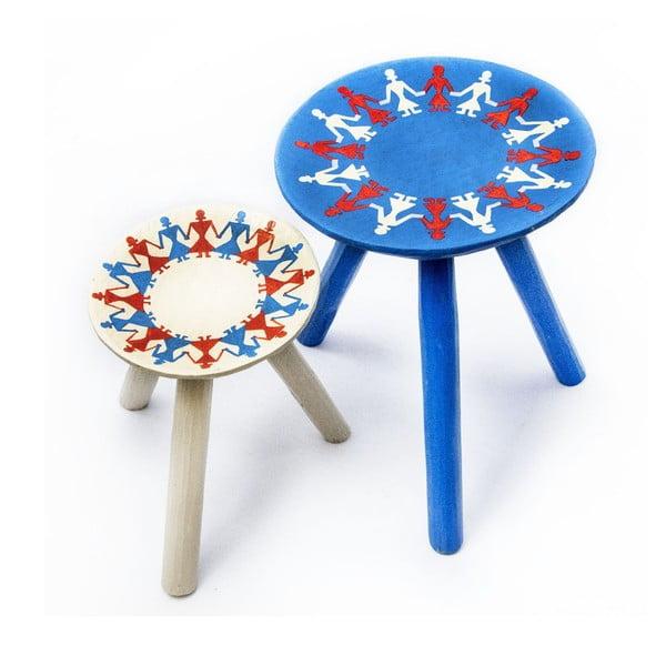 Sada 2 ručně malovaných stoliček Bod