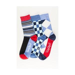 Sada 3 párů unisex ponožek Funky Steps Guste, velikost39/45