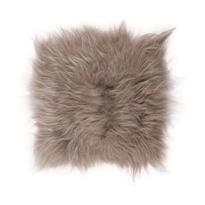 Pernă din blană cu fir lung pentru scaun Taupe, 37x37 cm