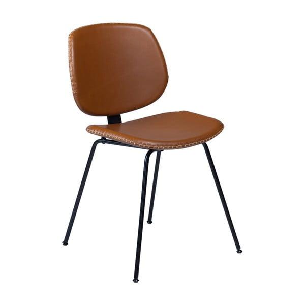 Hnědá jídelní židle DAN–FORM Prime
