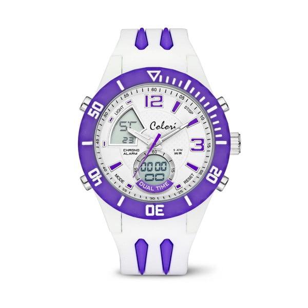 Hodinky Colori Anadigi 48 White Neon Purple