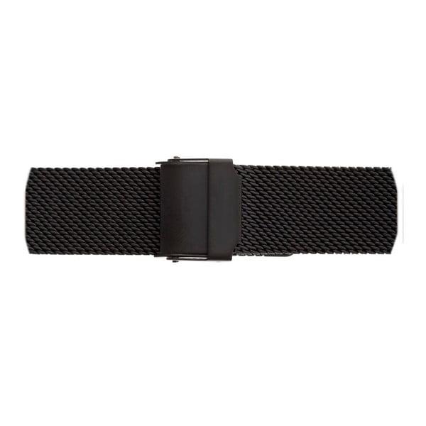 Dámské hodinky s černým páskem z nerezové oceli Emily Westwood Miliya
