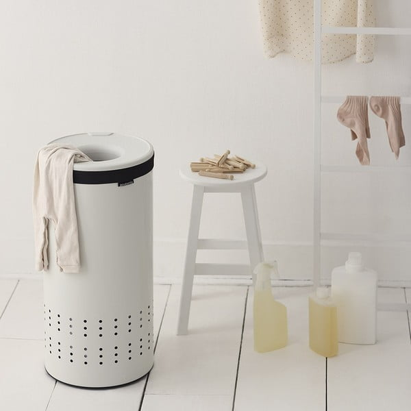 Koš na prádlo White 30 l