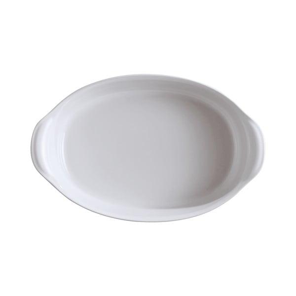 Vas oval de copt Emile Henry, 2,3 l, alb