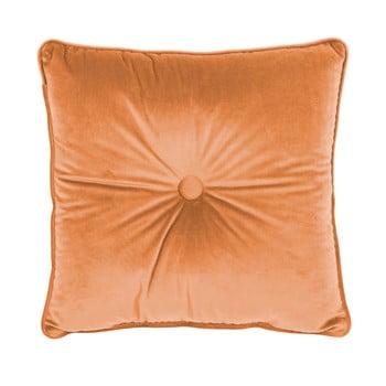 Pernă Tiseco Home Studio Velvet Button, 45x45cm, portocaliu
