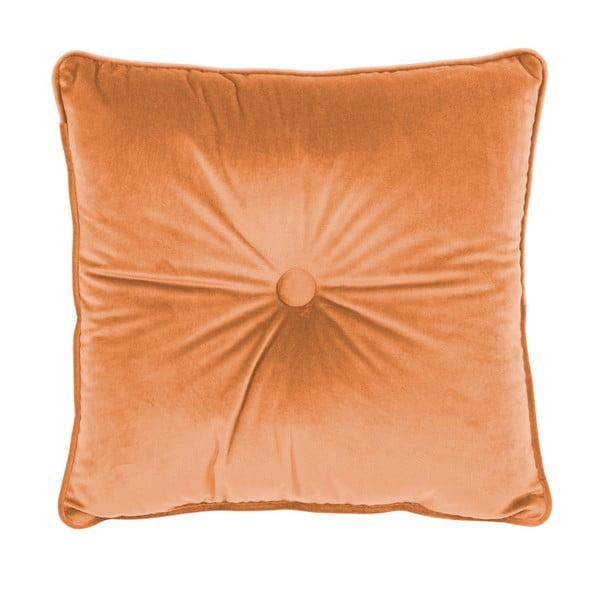 Pomarańczowa poduszka Tiseco Home Studio Velvet Button, 45x45 cm