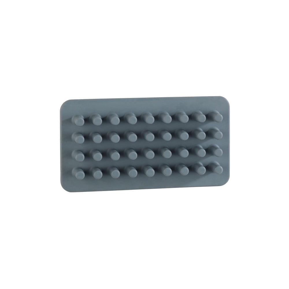 Šedý silikonový nástěnný držák na tužky/štětce/kartáčky Wenko Ampio