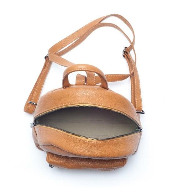 Kožený batůžek Mangotti 1166 Cognac