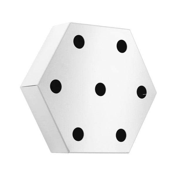 Stojan na víno Hexagon, bílý