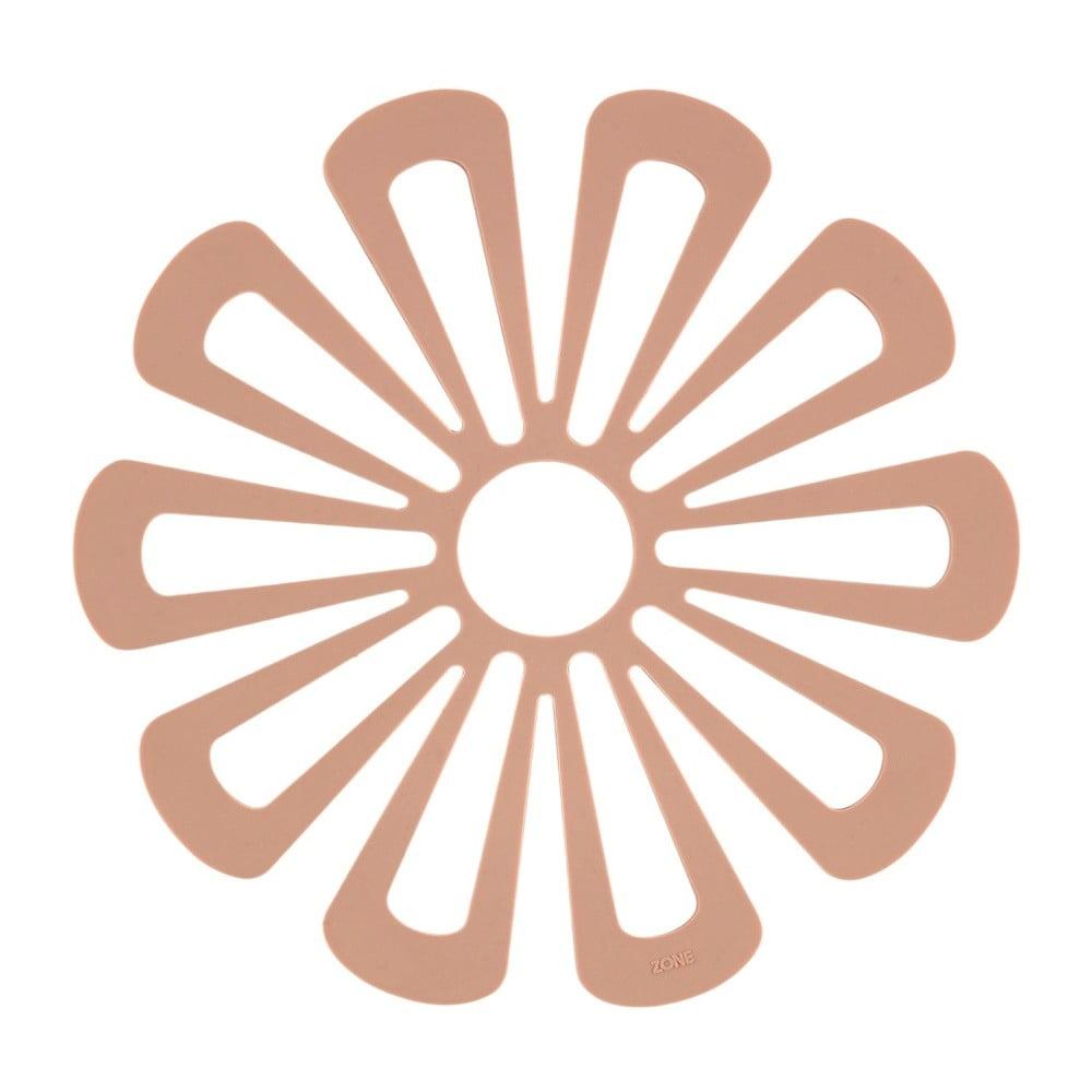 Silikonová podložka pod horké nádoby v tělové barvě Zone Flower