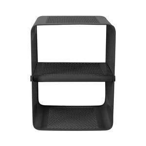 Černý nástěnný 2patrový botník Tica copenhagen Perforate