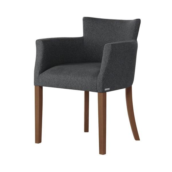 Santal antracitszürke bükk szék sötétbarna lábakkal - Ted Lapidus Maison