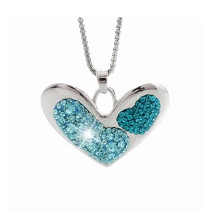 Colier Swarovski Elements Laura Bruni Deep Feelings Aquamarine