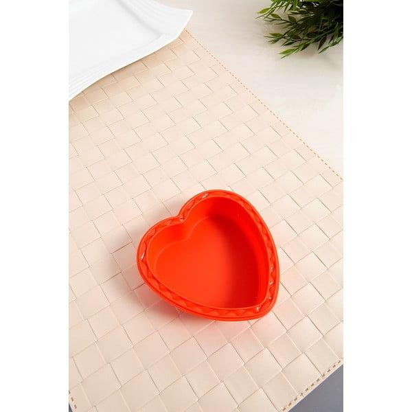 Silikonová formička Srdce, 2 ks, oranžová