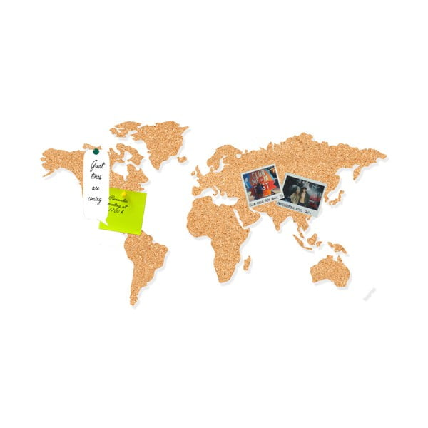 Korková nástěnka ve tvaru mapy Little Nice Things