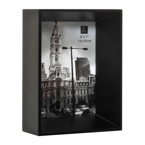 Fotorámeček Broad Black, 16x7x21 cm