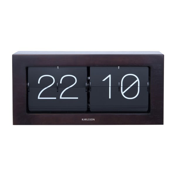 Czarny zegar klapkowy Karlsson Time Flip