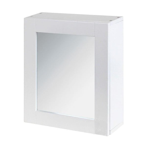 Zrcadlo s úložným prostorem In White, 35x30 cm