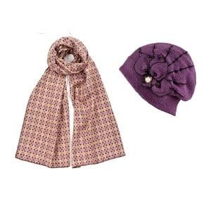 Set căciulă și șal, Purple Elegant