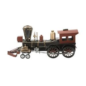 Dekorativní kovová lokomotiva Mauro Ferretti