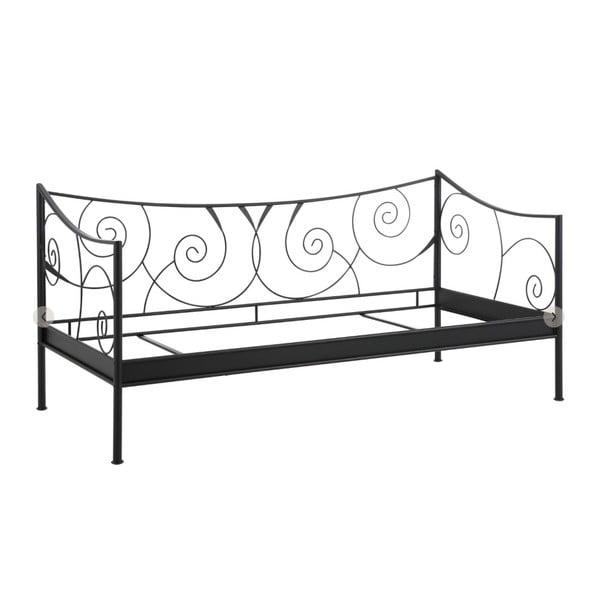 Isabelle fekete fém ágykeret, 90 x 200 cm - Støraa