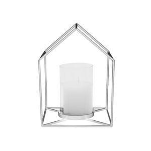Sfeșnic Present Time House, argintiu