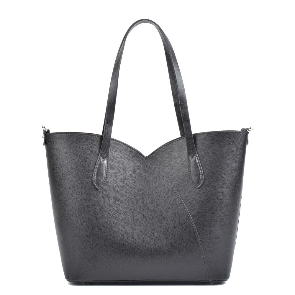 Černá kožená kabelka Isabella Rhea Pasha dd2589963a
