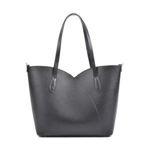 Černá kožená kabelka Isabella Rhea Pasha