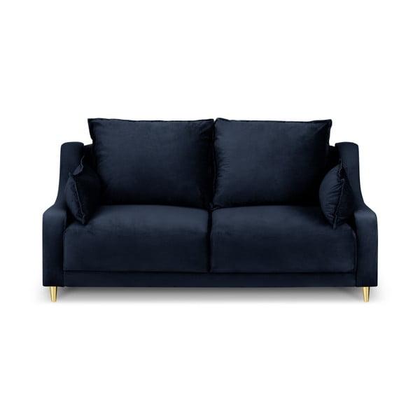 Tmavě modrá dvoumístná pohovka Mazzini Sofas Pansy