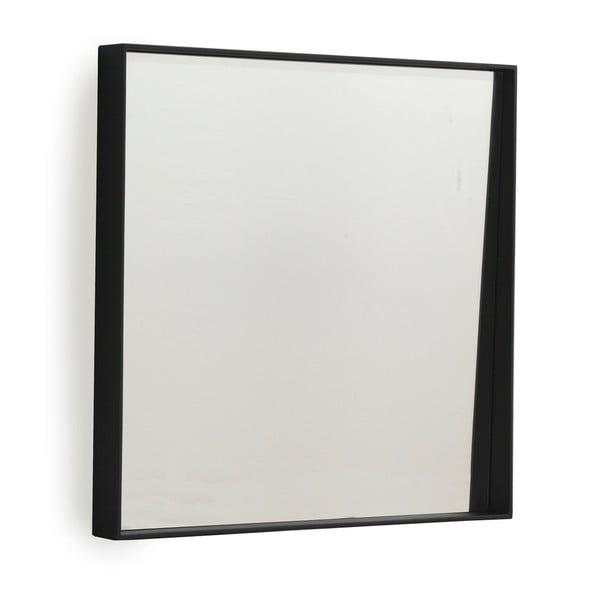 Oglindă de perete Geese Thin, 40 x 40 cm, negru
