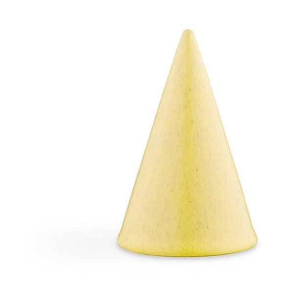 Glazed Cone Yellow sárga agyagkerámia dekorációs szobor, magasság 11 cm - Kähler Design